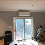 Ductless Installation - Above Sliding Doors